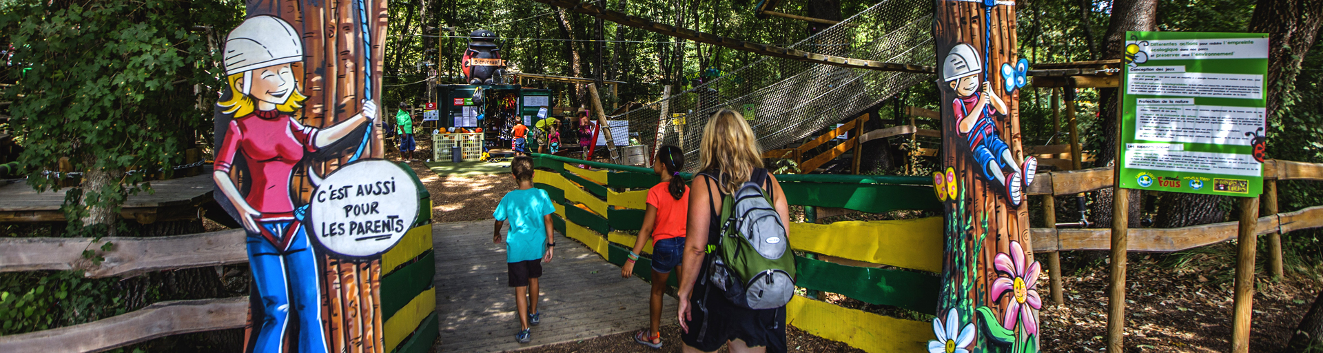 Entrée du parc Pitchoun Forest