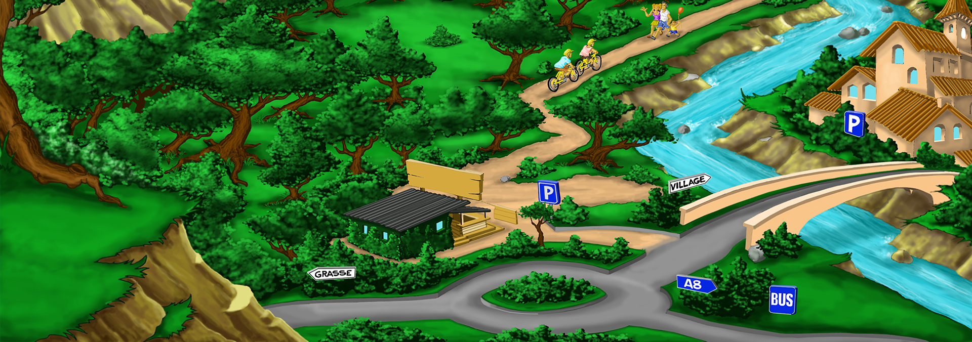 Illustration de l'accès au parc